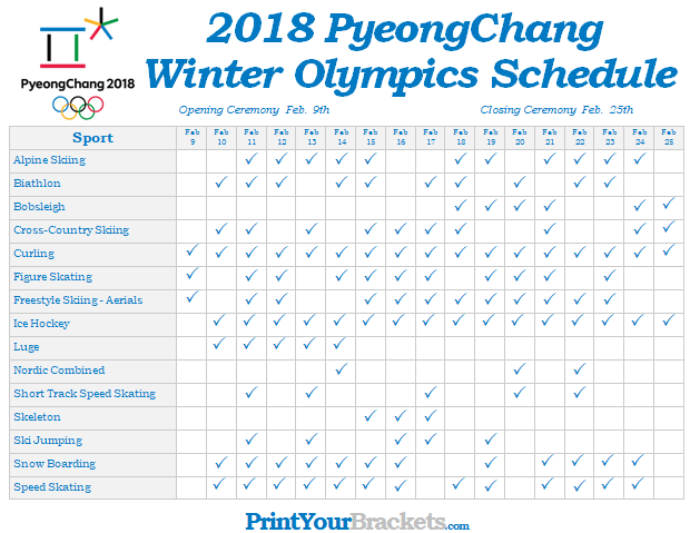 Winter-olympics-schedule